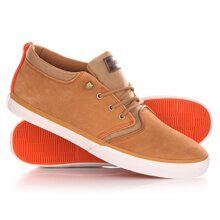 КЕДЫ ВЫСОКИЕ QUIKSILVER GRIFFIN FG BROWN/ORANGE AQYS300004-XCCN