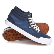 КЕДЫ ВЫСОКИЕ ЖЕНСКИЕ DC EVAN TXSE BLUE/BROWN/WHITE ADJS300164-XBCW