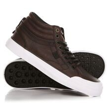 КЕДЫ ВЫСОКИЕ ЖЕНСКИЕ DC EVAN HI LE BROWN/DARK CHOCOLATE ADJS300189-BD2