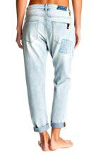 ДЖИНСЫ ПРЯМЫЕ ЖЕНСКИЕ ROXY RIDER PATCH PANT LIGHT BLUE ERJDP03058-BFFW