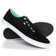 КЕДЫ DC SHOES TONIK W BLACK/AQUA ADJS300043-BA2