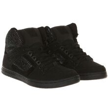 КЕДЫ ВЫСОКИЕ ЖЕНСКИЕ DC PURE HIGH-TOP SE BLACK/SILVER/BLACK ADJS100116-0SB